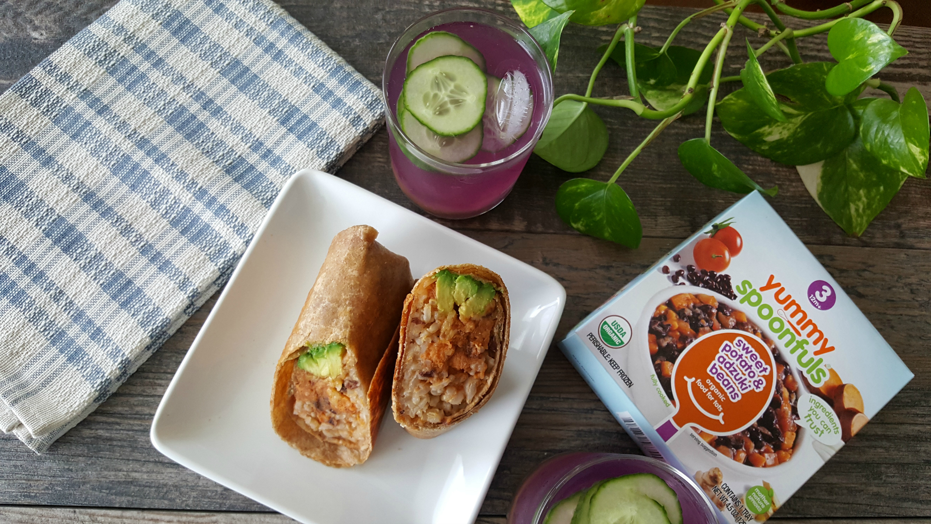 In the Kitchen with Agatha: Sweet Potato & Adzuki Bean Breakfast Burritos