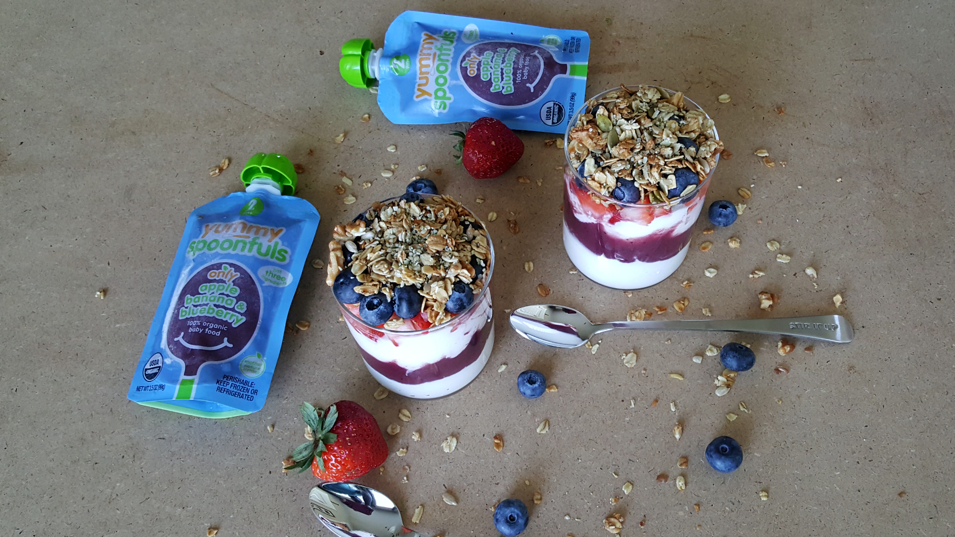 In the Kitchen with Agatha: Apple Banana Blueberry Yogurt Parfait
